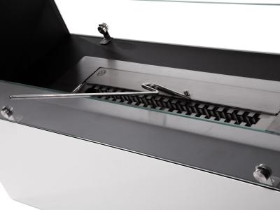 Biochimenea modular de suelo en acero lacado en blanco de - Acero modular precios ...