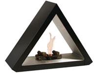 Chimenea Pyramide Negro STARLINE