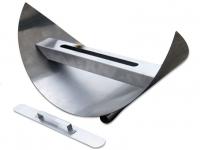 Biochimenea de mesa en acero inoxidable lacado