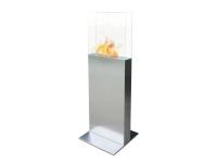 Biochimenea de suelo con cristal templado