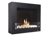 Biochimenea mural color negro Limited Edition con regulador de llama