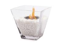 Biochimenea de sobremesa con cristal de vídrio templado