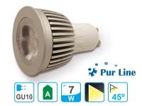 Bombilla LED dicroica GU10 de 7W luz cálida