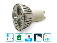 Bombilla LED dicroica GU10 de 9W luz natural