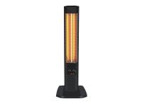 Calefactor halógeno vertical con resistencia de carbono y termostato ajustable