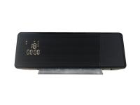 Calefactor split cerámico con frontal de cristal negro y con control WIFI