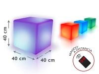 Cubo LED ambiental 40 cm