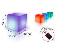 Cubo LED ambiental 30 cm