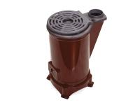 Estufa y cocina de leña y carbón con parte superior en hierro fundido