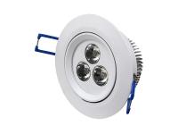 Foco empotrable LED 3w luz blanco cálido