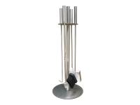 Juego de 4 accesorios para chimenea o estufa en acero inoxidable