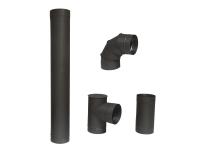 Kit de Tubos para instalación de estufas de leña o carbón 13 Cm