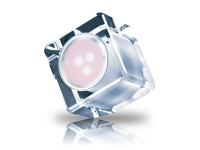 Cubo de cristal LED ambiental con luz de colores