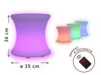 Mueble multifuncional con luz LED ambiental