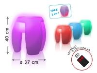 Mueble multifuncional con luz ambiental LED