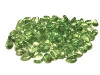 Piedras decorativas transparentes tonalidad verde