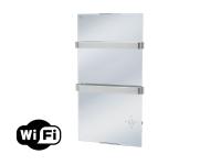 Radiador toallero eléctrico de cristal templado espejo y control por App WIFI