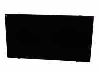 Radiador panel cristal templado color negro ZAFIR H1500B