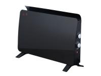 Radiador panel cristal templado color negro ZAFIR H1500N B de PURLINE