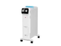 Radiador de aceite 1500W de 7 elementos con recipiente para humidificación