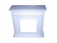 Revestimiento de madera color blanco para chimenea  PURLINE