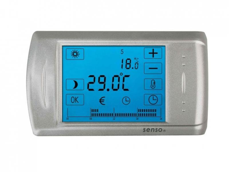 Purline termostato de pared programable con pantalla for Termostato digital calefaccion programable