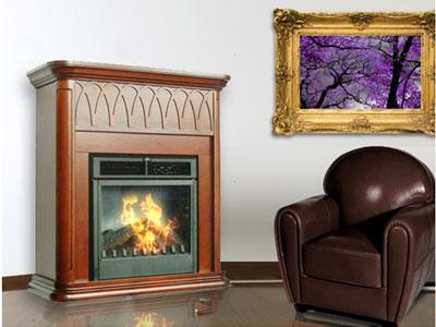 Revestimiento de madera para chimenea purline expertos en climatizaci n y muebles - Chimeneas de biocombustible ...