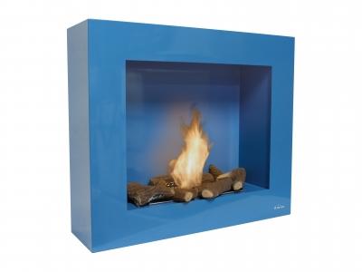 Biochimenea de pared color azul limited edition - Biochimenea de pared ...
