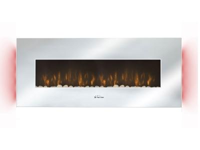 Chimenea el ctrica panor mica con luz led ambiental - Estufas electricas efecto llama ...