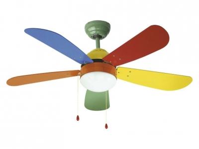Ventilador de techo con luz colore de orieme expertos en climatizaci n y infantiles - Ventiladores techo infantiles ...