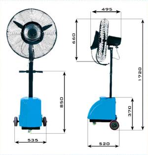 Ventiladores de agua micronizada freshvent lra cool - Ventiladores de agua ...